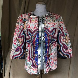 Zara AS NEW all embroidered short jacket L